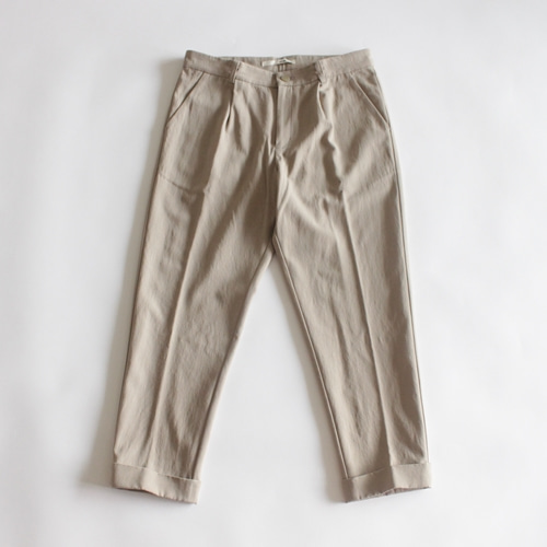 evam eva cotton wool turn back pants (베이지)