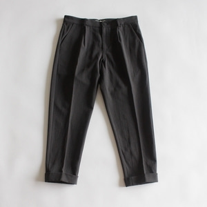 evam eva cotton wool turn back pants (차콜 그레이)