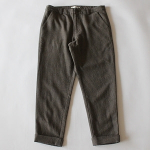 evam eva wool turn back pants (brown)